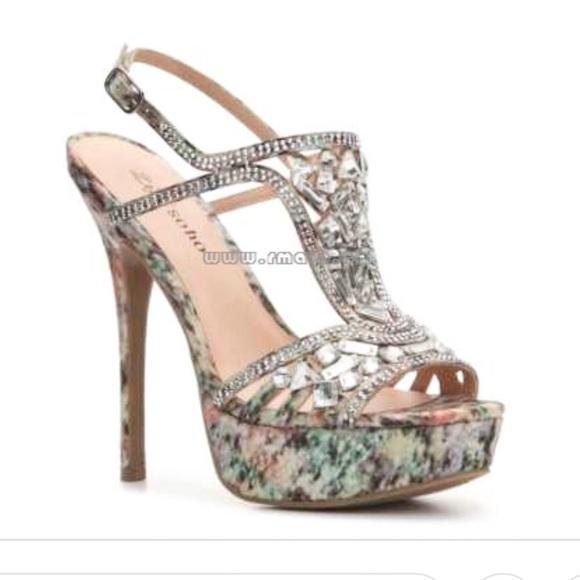 Crystal Embellished Platform Heels
